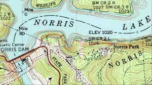 Norris Lake Tennessee Map by American Travel Journal East Area Hiking Norris Dam State Park