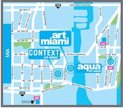 Map Of Miami Beach Hotels by Aqua Art Miami Visitors