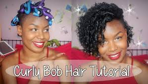best hair to use for a bob curly bob hair tutorial with bendy rollers akilah sp youtube