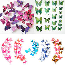 search on aliexpress com by image fashion cute 12pcs pvc 3d butterfly wall sticker decor butterflies art decal sticker on the wall decoration