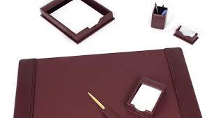 Desk Accessory Sets Desk Executive Accessories For Amazing Leather Set