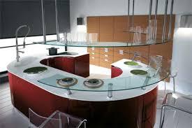 home interior style curved kitchen island designs