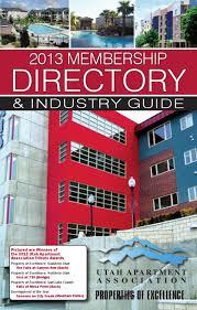 2013 utah apartment assoc membership directory u0026 industry guide