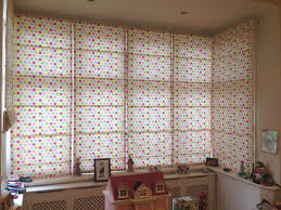 roman blinds on a square bay babic interiors
