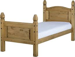 Corona Mexican Pine Bedroom Furniture Corona 3ft Bed Base With High Foot End Pp Homestores Mablethorpe