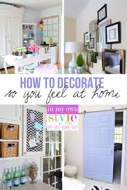 How to Decorate So You Feel at Home