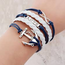 fashion jewelry charm bracelet images New fashion jewelry infinite double leather multilayer charm jpg