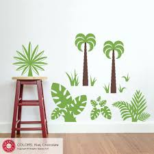 large elephant decal etsy dinosaur jungle plant pack wall decal fern palm trees grass elephant ear leaves