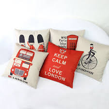 Home Decor Shops London Online Shop London Cushion Cover Red British Vintage Pattern