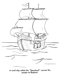 pilgrims america coloring pages 008