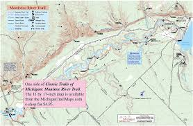 Great Loop Map Manistee River Trail Manistee National Forest Michigan Trail Maps