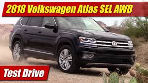 volkswagen atlas sel 2018 volkswagen atlas test drive youtube