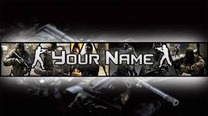 photoshop counter strike banner channel art template download
