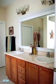 Trim Around Bathroom Mirror How To Frame Bathroom Mirror With Molding Frame Bathroom Mirror