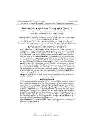 j dische k che methoden der amphibienerfassung ein überblick pdf