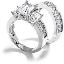 black cubic zirconia engagement rings grade aaaaa three emerald cut cubic zirconia