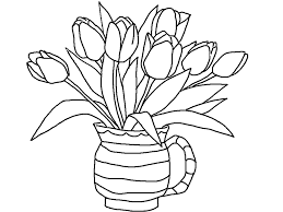 coloring excellent tulip coloring free printable pages