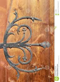 Medieval Decorations by Medieval Metal Decorations On Old Door Stock Photo Image 61408860
