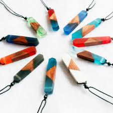 wooden necklaces hot 1pc women men necklace handmade vintage resin wood necklaces