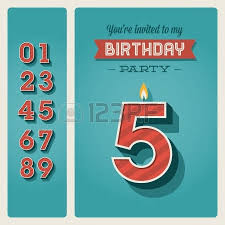 happy birthday card retro vintage typography letters font