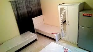 beatifull bed space in garden beside ibn battuta mall room for