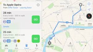 apple maps apple maps now supports transit in paris mac rumors