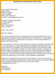 best solutions of event planning cover letter samples in example