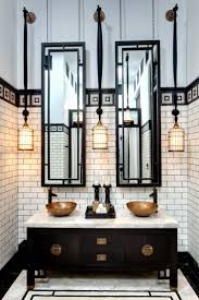 Black White Bathroom Accessories by Bathroom Bathroom With Cherry Blossom Mural On Gold Leaf Wall