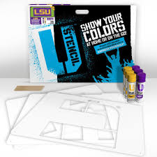 u stencil lsu 3 panel lawn stencil kit lsuoos 001 the home depot