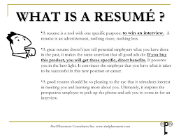 Wat Is A Resume Creating A Resume