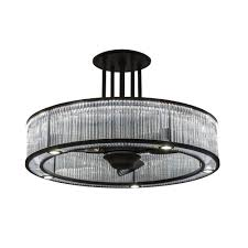 Ceiling Fans With Tiffany Style Lights Indoor Ceiling Fans Color Finish Glass Transparent