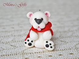 Polar Bear Christmas Ornaments by Polar Bear Christmas Figurine Christmas Polar Bear Cute