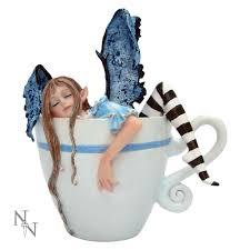 nemesis now tea coffee cup mug statue ornament fairies