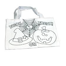 basketball halloween basket color your own halloween tote bag