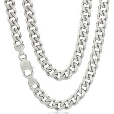mens silver curb necklace images Mens heavy solid sterling silver curb chain 22 inch newburysonline jpg