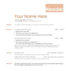 Resume With Bullet Points Resume Templates Resume Templates Examples Free Resume Templates