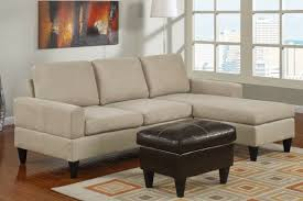 furniture cream velvet sectional sofa with chaise and dark brown