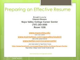 Upload Resume Online by Preparing An Effective Resume Napa Valley College Career Center