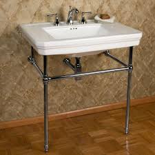reduced bathroom sink console mason with brass stand 8 centers available in