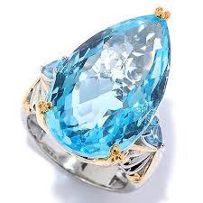blue gem rings images Gems en vogue 20 52ctw checkerboard cut swiss blue topaz pear
