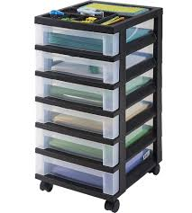 Office Storage Containers - six drawer office storage chest black in storage drawers