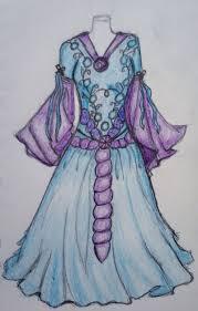 blue and purple wedding dress by technojunkie123 on deviantart