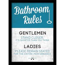 incredible toilet rules poster and best ideas bathroom wall art