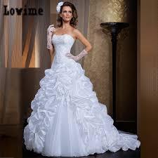 vestido de noiva 2 em 1 lace strapless ruffles wedding dresses