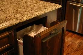 kitchen furniture kitchen island with trash bin diy pull out