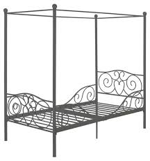 Metal Canopy Bed Frame Metal Canopy Bed Pewter Gray Finish Kids Beds By Hearts Attic