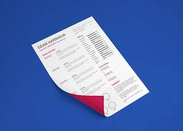 free indesign resume template with minimal design
