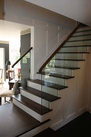 Glass Stairs Design My Stair Railing Design Using Glass To Complement Traditional