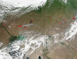 Wildfire Alberta Map by Fires Cover Large Portions Of West Africa Nasa