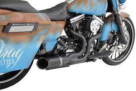 python rayzer 2 into 1 exhaust system black for 07 16 harley